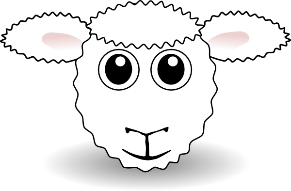 Sheep Face Clip Art at Clker.com.