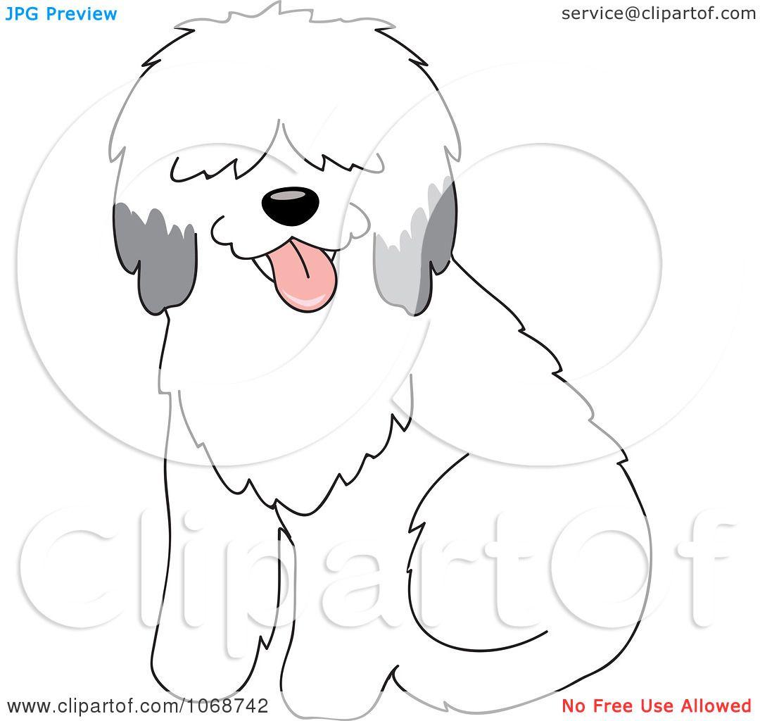 Clipart Sheepdog Sitting.