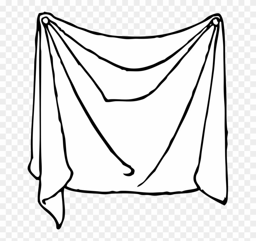 Bed Sheets Linen Line Art.