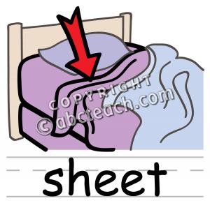 Bed Sheet Clipart.