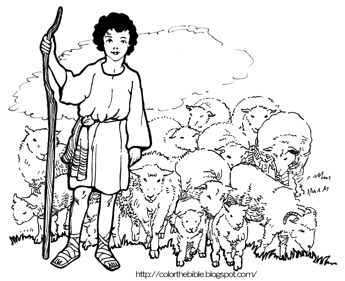 Clipart Shepherd Boy.