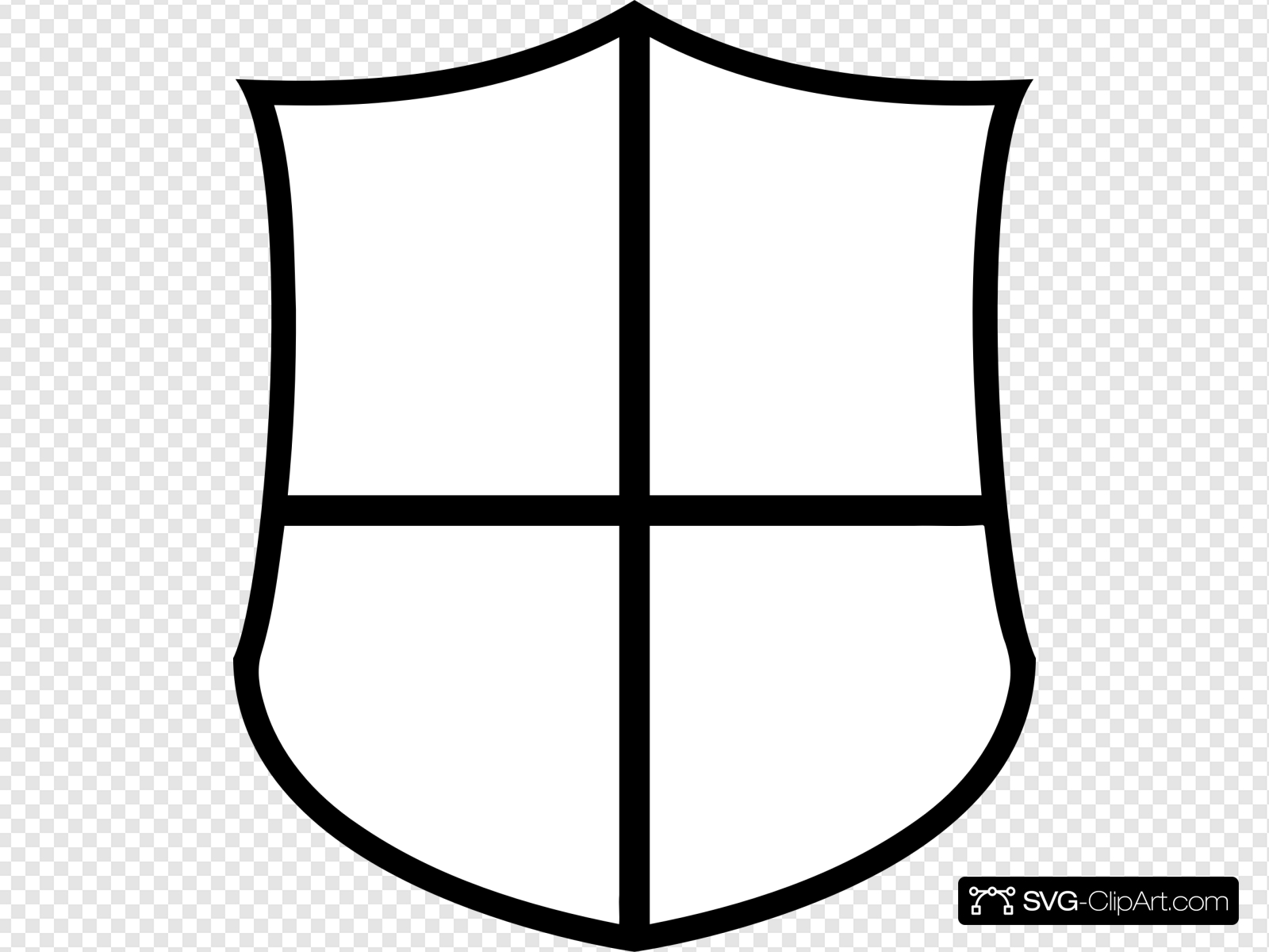 Shield Outline Clip art, Icon and SVG.