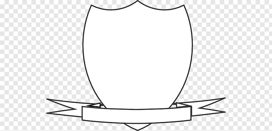 White shield template, Escutcheon Crest Shield, Crest Ribbon.