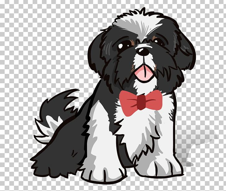 Shih Tzu Dog Breed Puppy Caricature PNG, Clipart, Animal.