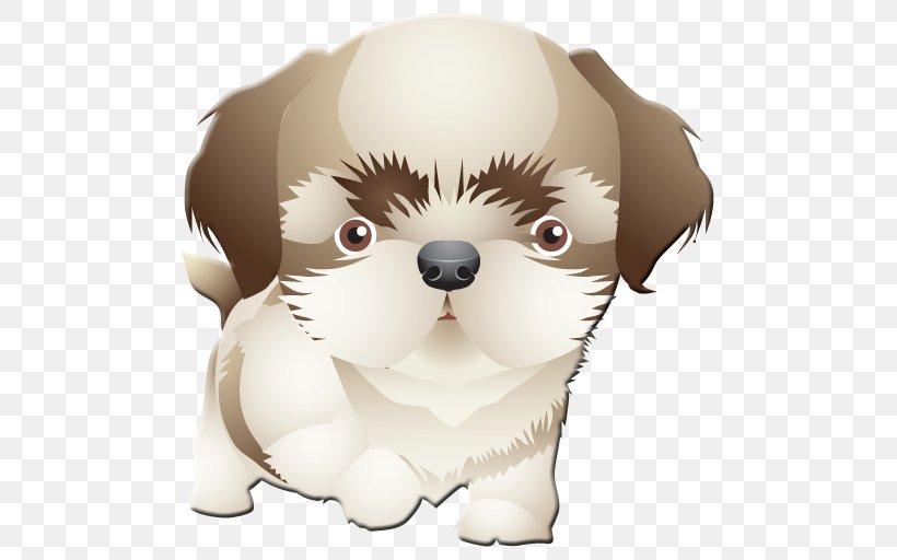 Puppy Dog Breed Shih Tzu Drawing Clip Art, PNG, 512x512px.