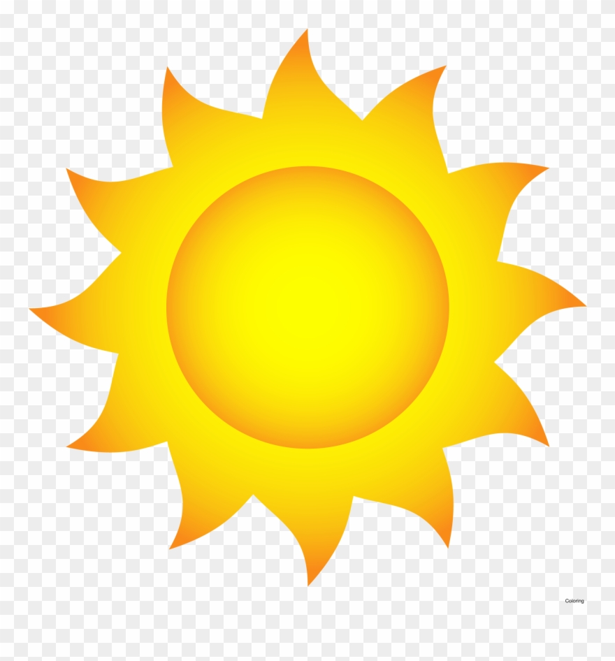 Sun Clip Art With Transparent Glow Effect Shine Weather.