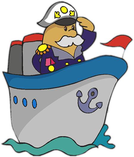 Ship Captain Clipart.