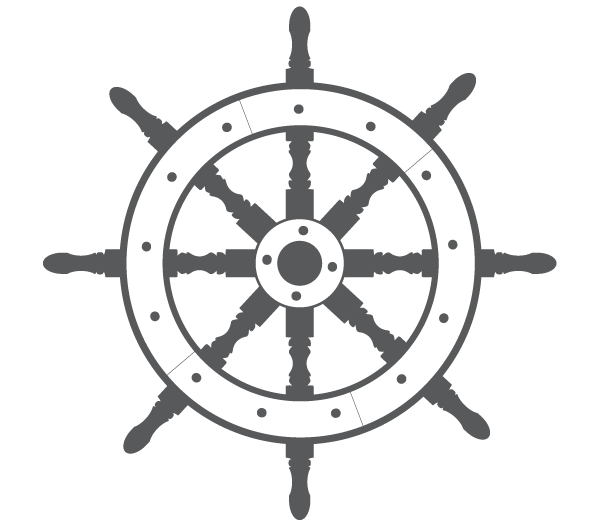 Ship Steering Wheel Free Vector.
