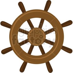 ship wheel vector clipart no background . Royalty.
