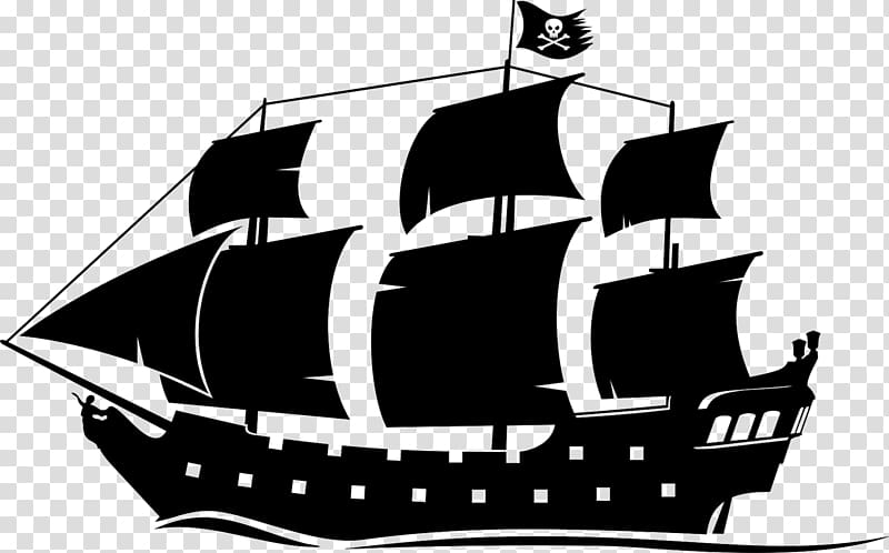 White galleon ship illustration, Ship Black Pearl Boat.