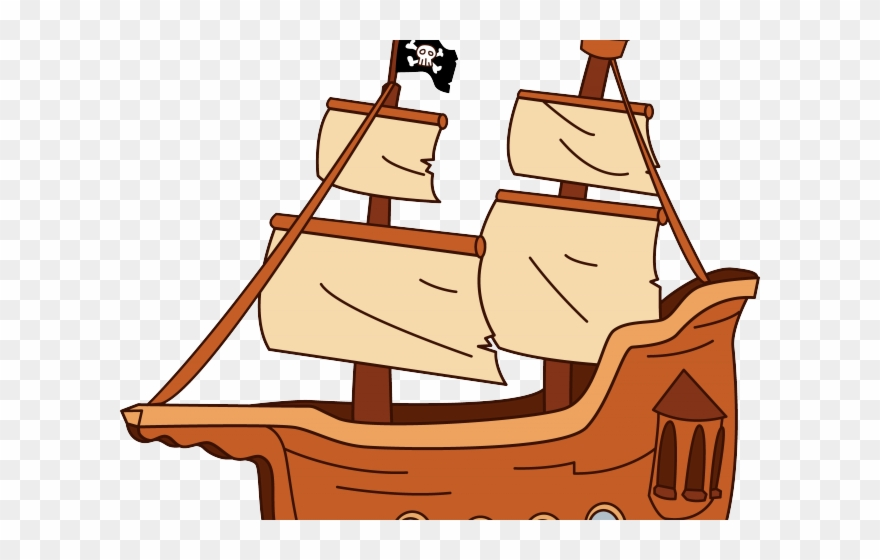 Old Sailing Ships Clipart Pirate Ship.