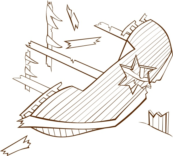 Shipwreck clip art Free vector in Open office drawing svg.