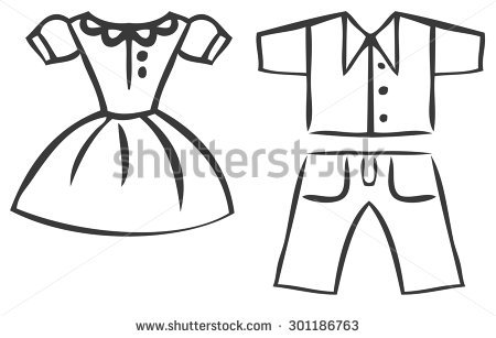Shirt and pants clipart black and white 5 » Clipart Station.