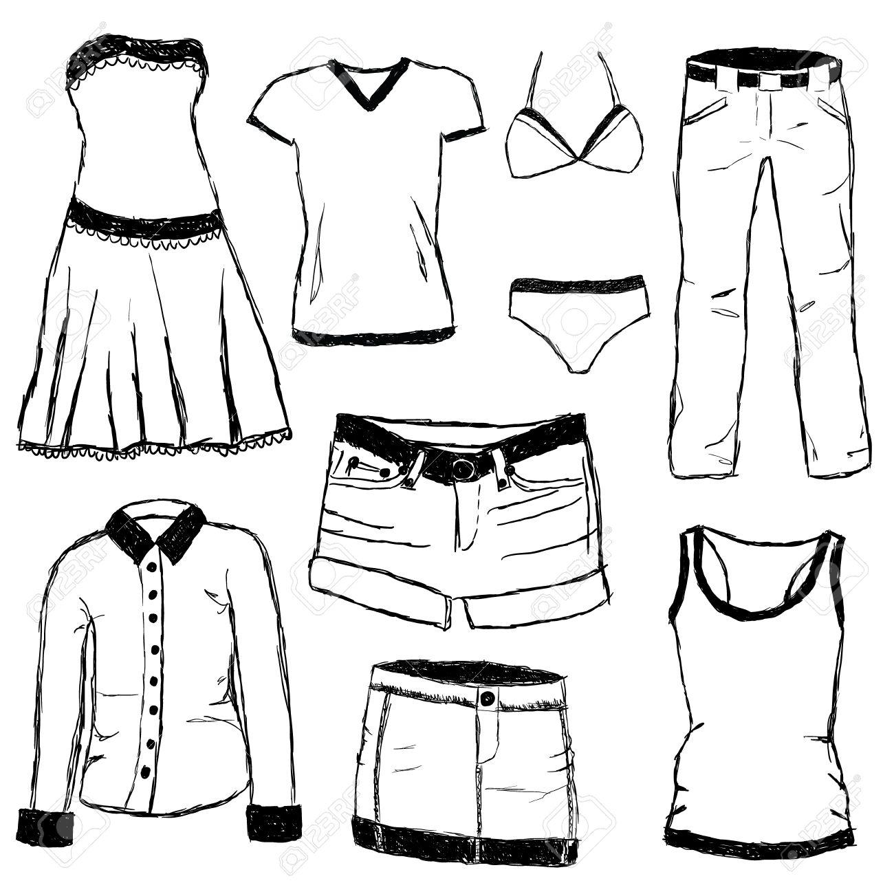 Pants And Shirt Clipart.