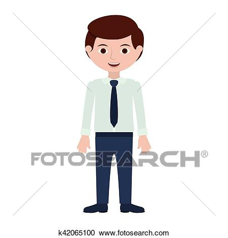 Man with formal shirt and pants Clipart.