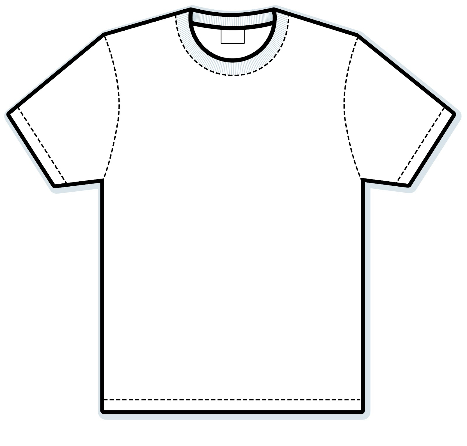 Black And White T Shirt Clipart.