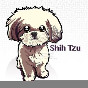Animated Shih Tzu Clipart.