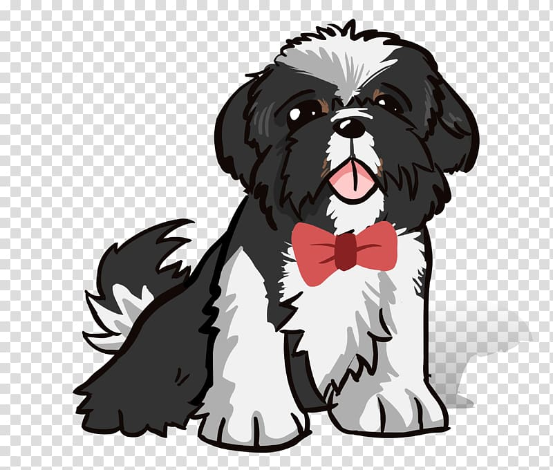 Shih Tzu Dog breed Puppy Caricature, puppy transparent.