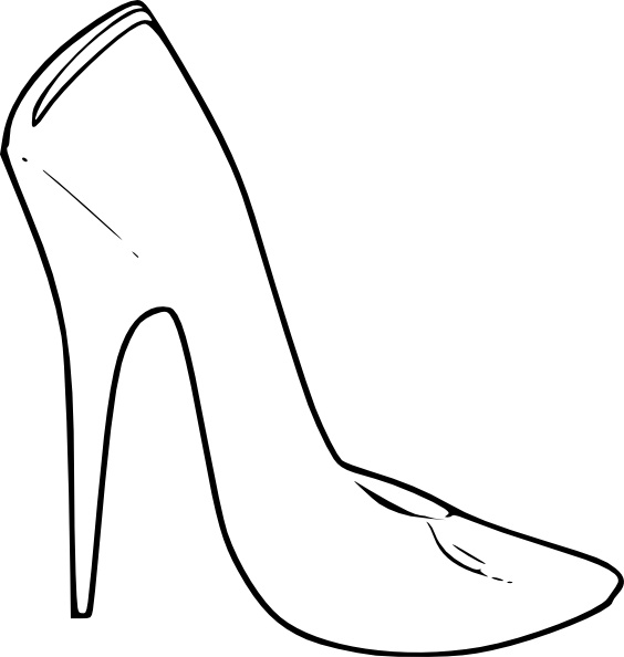 High Heel Shoes Women Fashion clip art Free vector in Open office.
