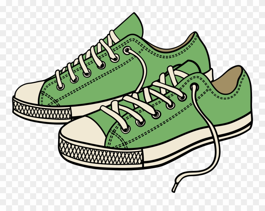 Sneaker Tennis Shoes Clipart Black And White.