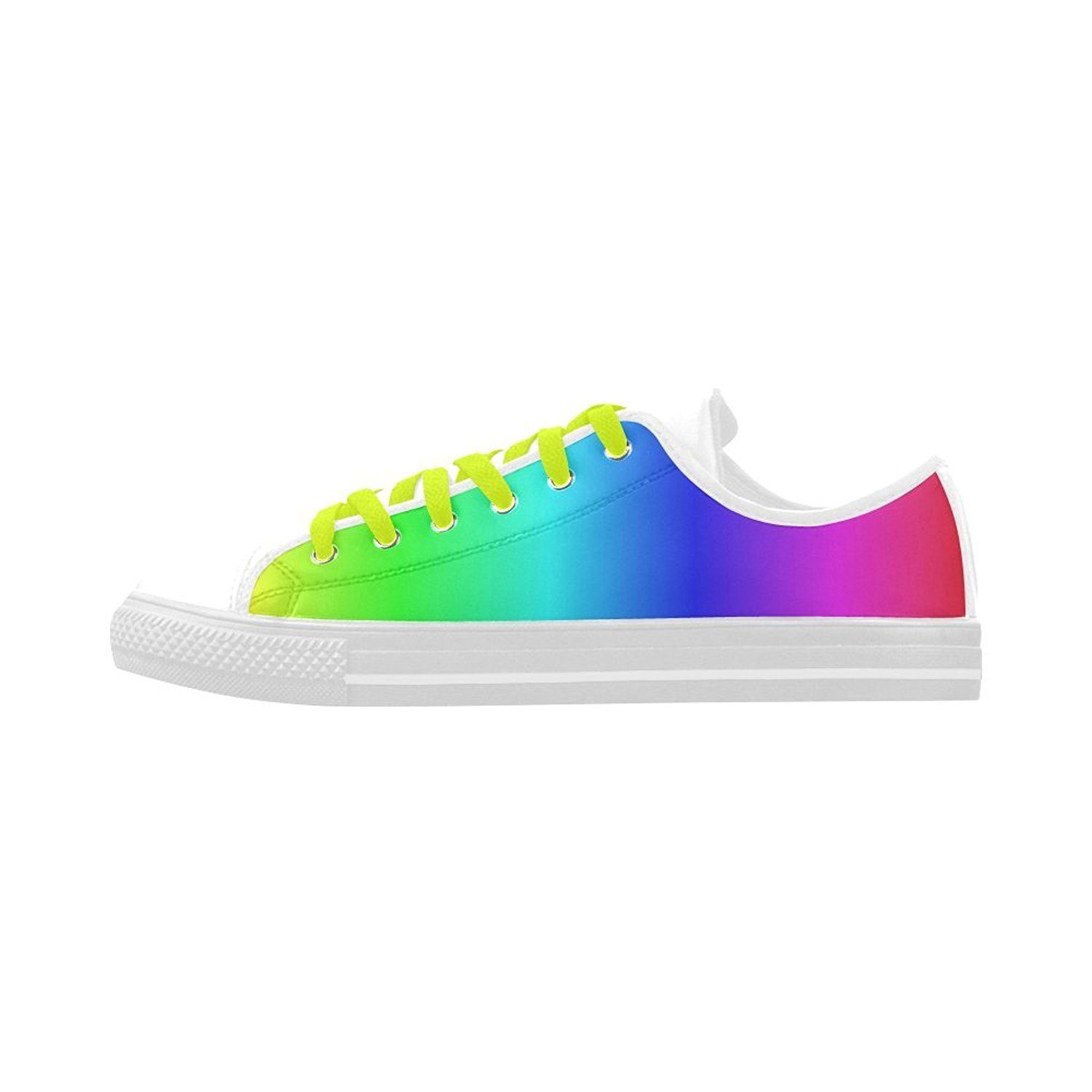 Custom Aquila Action Leather Shoes Crayon Box Ombre Rainbow.