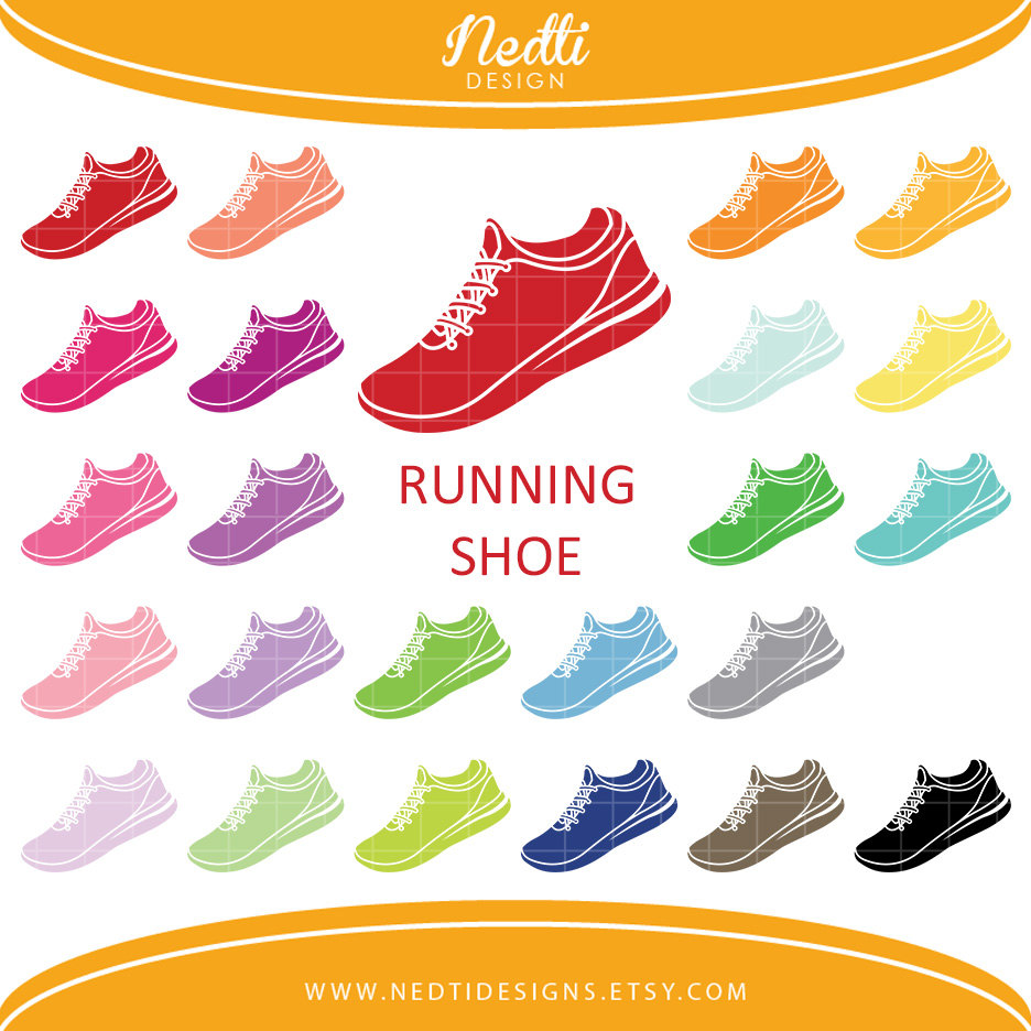 Running shoe clipart.
