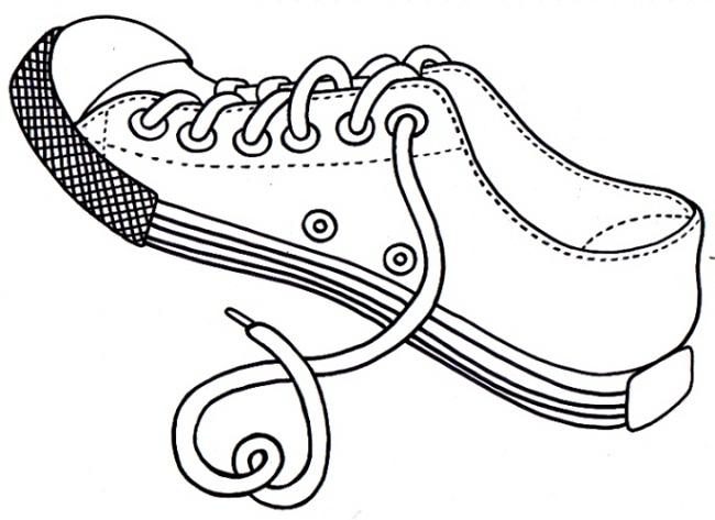 Clipart shoes to color clipground for Coloring pages shoes printable