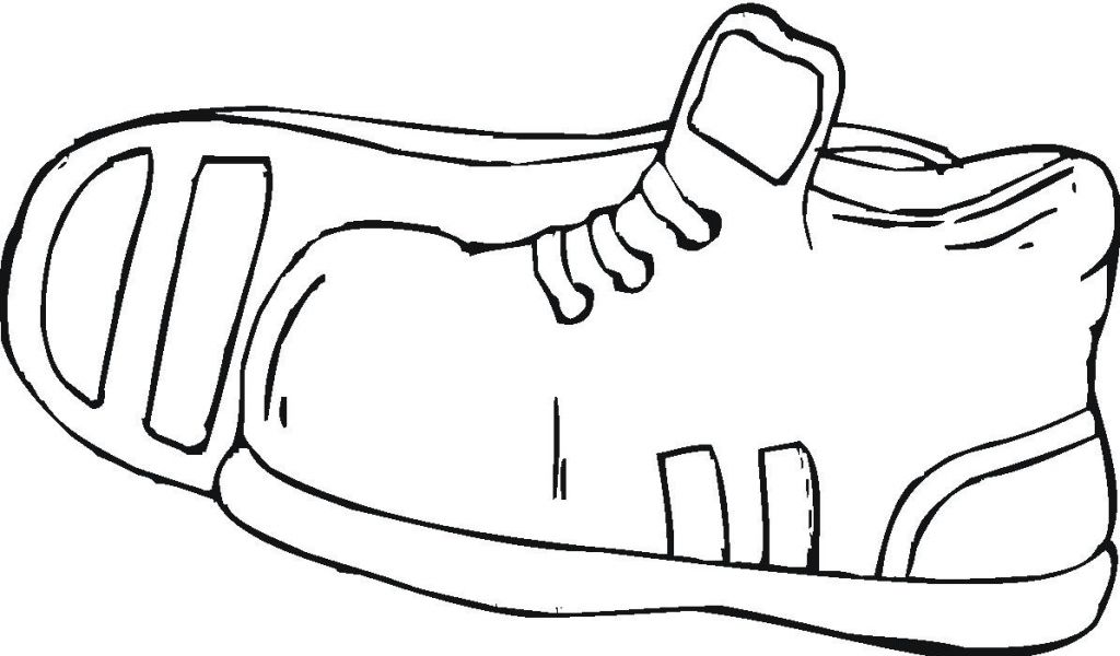 Coloring Page Of Shoe.