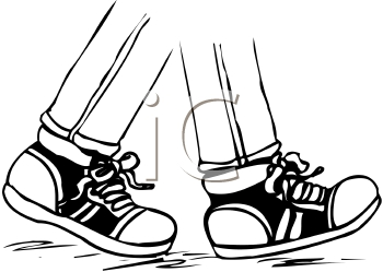 Animated Shoes Walking Clipart#2107041.