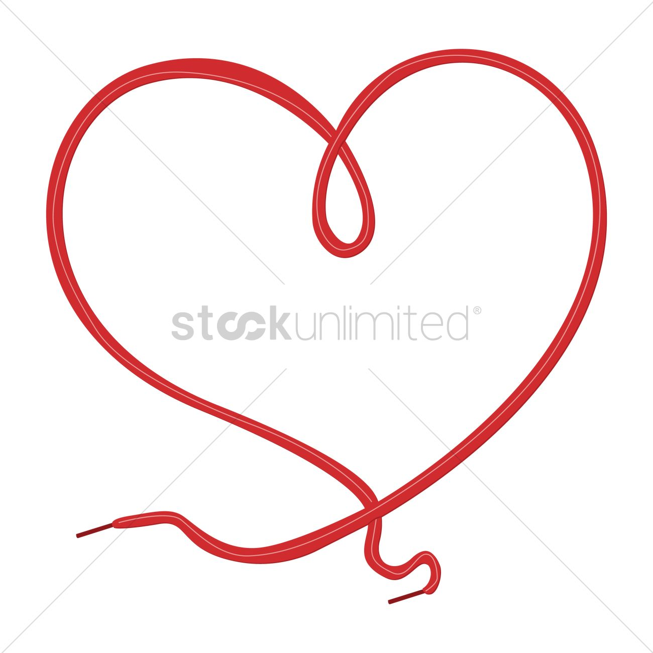 Heart design with shoe lace Vector Image.