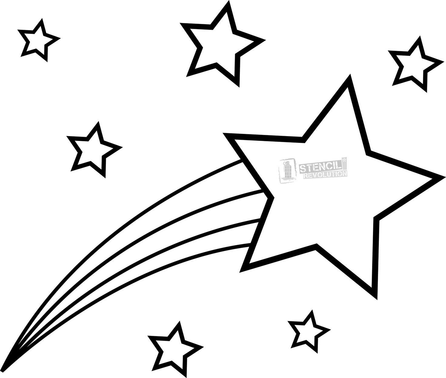 Shooting Star Stencil.