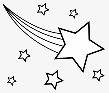 Free Shooting Star Black And White Clip Art with No.
