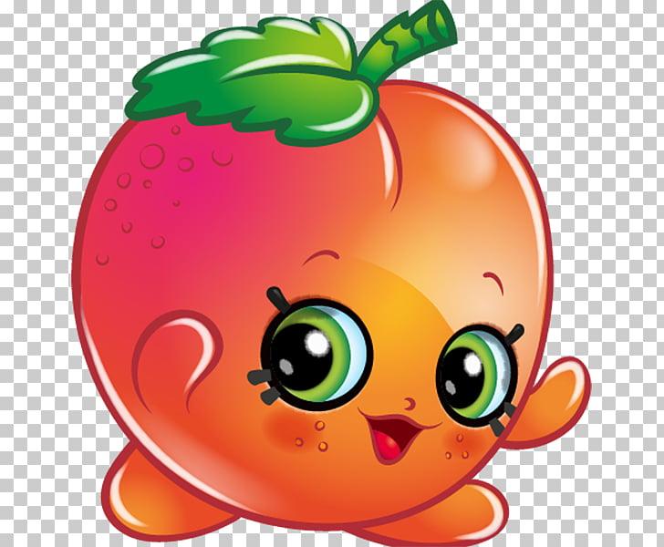 Apricot Fruit Shopkins , apricot PNG clipart.