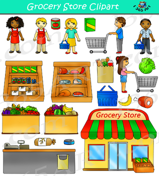 Grocery Store Clipart Shopping.