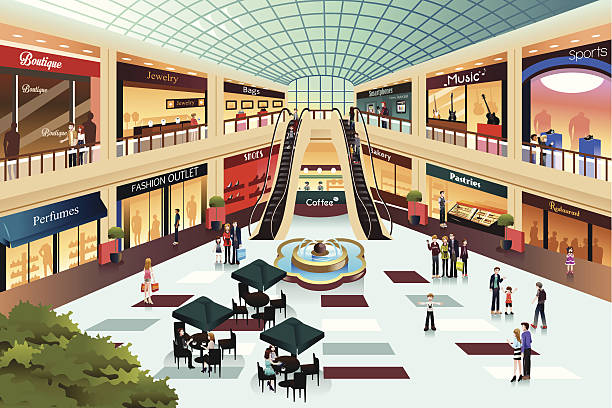 Top 60 Shopping Mall Clip Art, Vector Graphics and Illustrations.