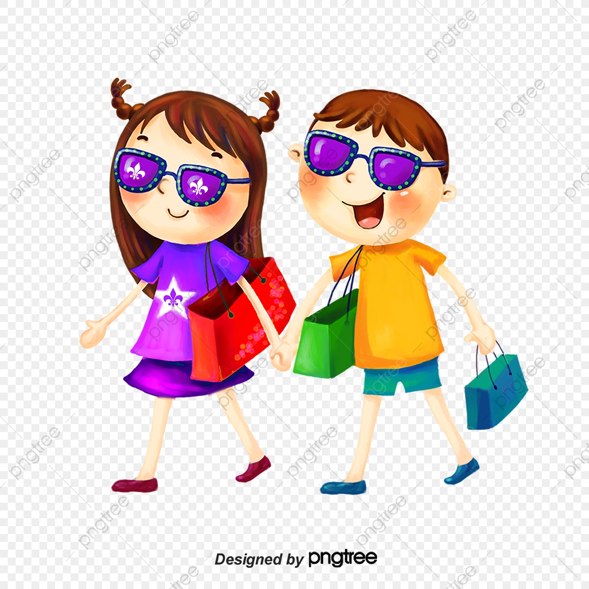 Shopping Girl, Shopping, Girl, Cartoon PNG Transparent Clipart Image.
