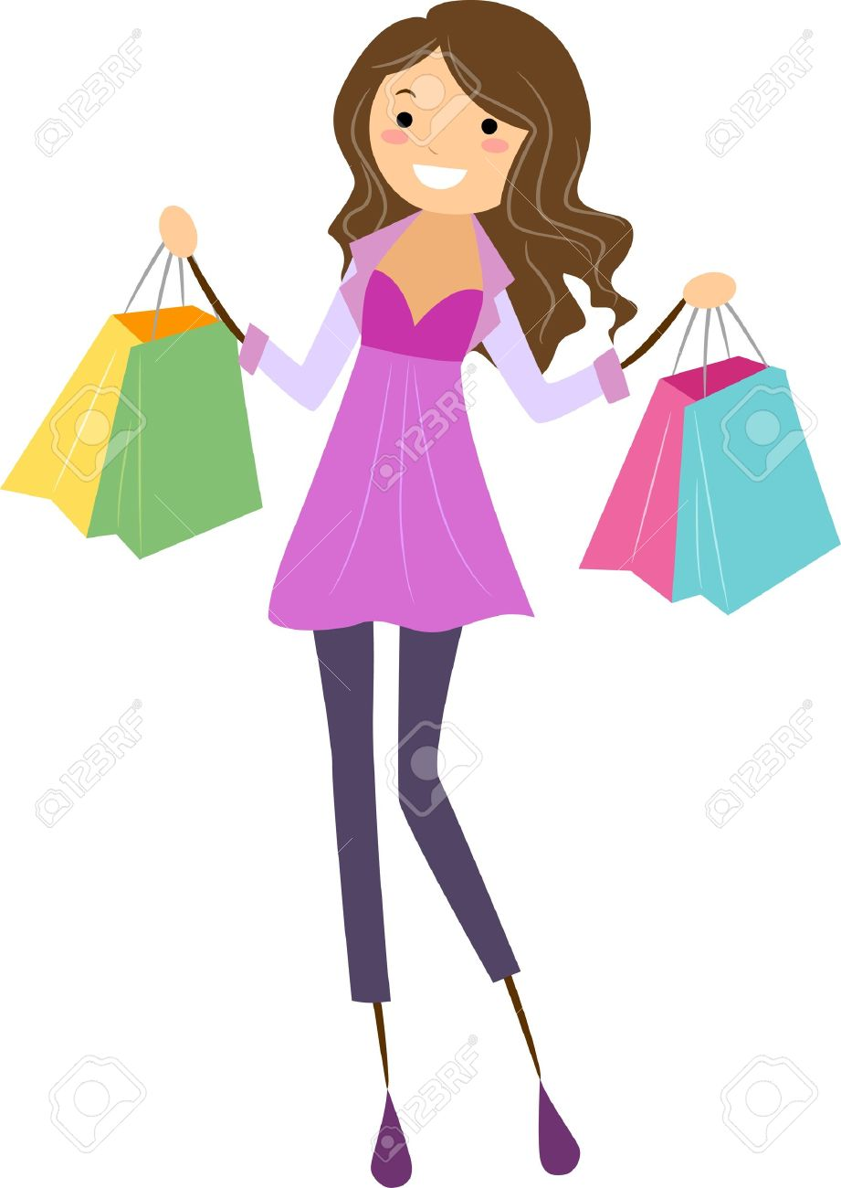 Collection of 14 free Shopping clipart popular girl aztec clipart.