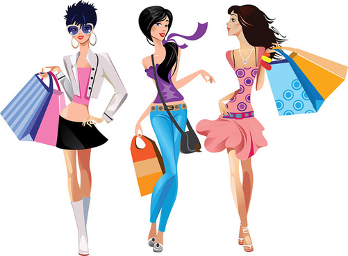 Fashion shopping girls clip art free vector download (220,959 Free.