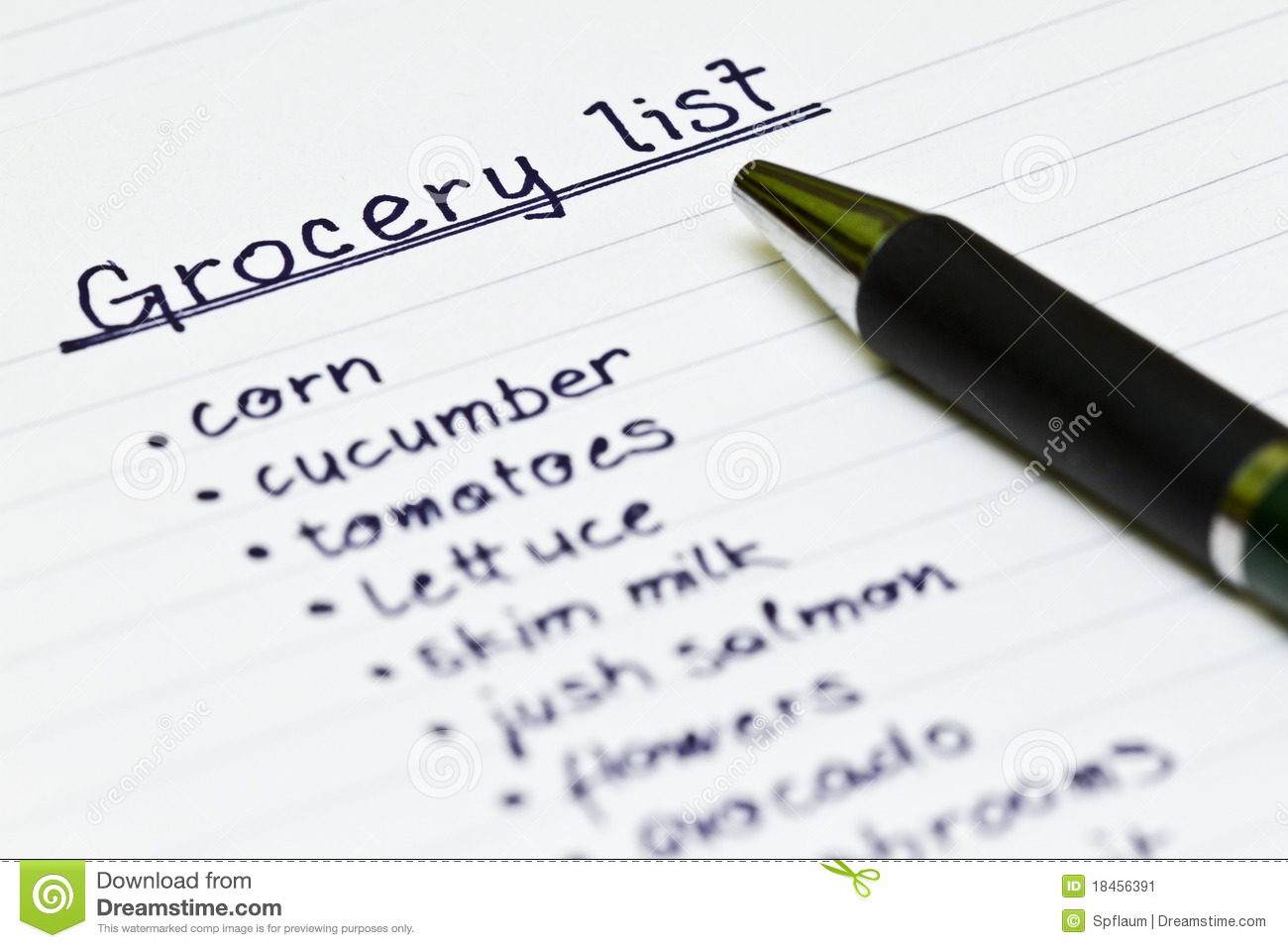 Grocery list clipart 6 » Clipart Station.