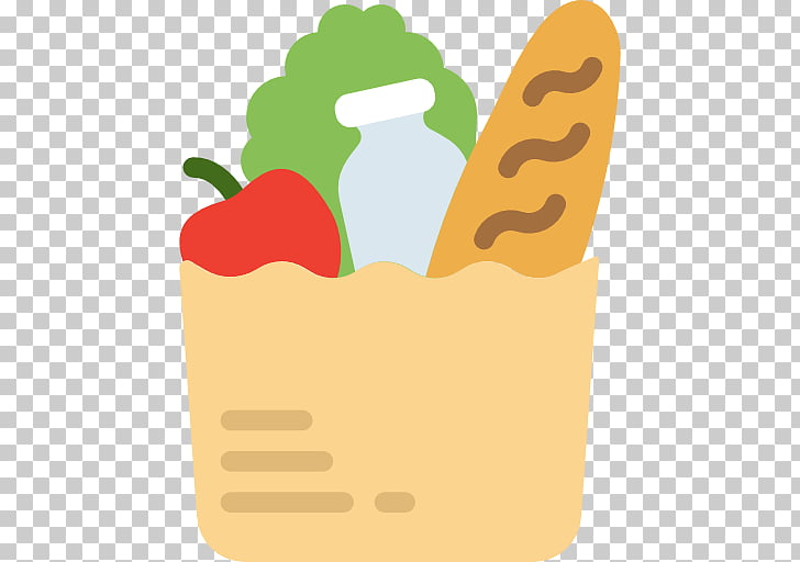 Grocery store Shopping list Food Icon, A bag of food PNG.