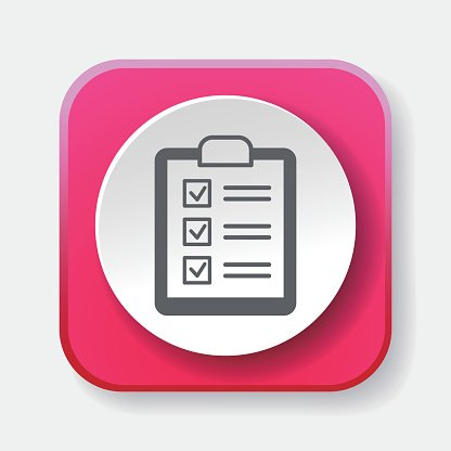 shopping list icon Clipart Image.