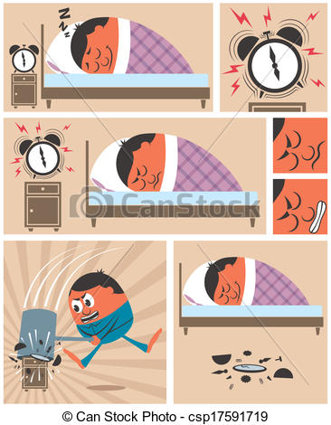 Vector Clip Art of Wake Up.