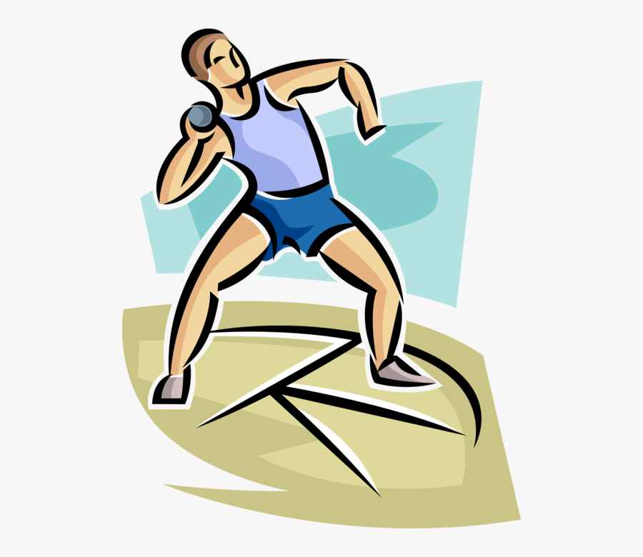 Clip Art Track Meet Competitor Throws.