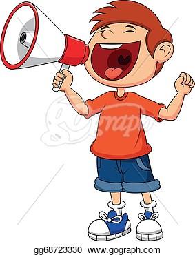 Boy Shouting Clipart.