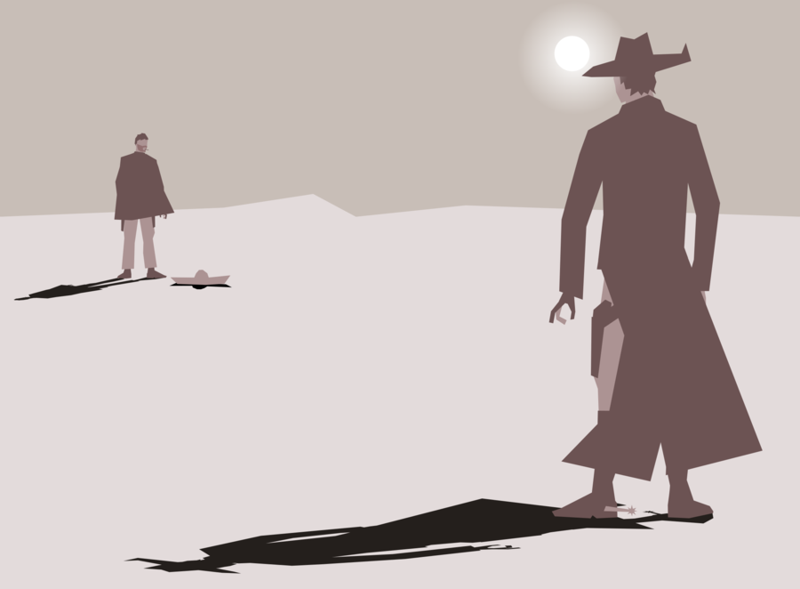 western showdown clip art clipart American frontier.