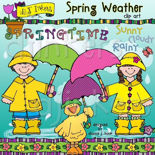 Our darling \'Spring Weather\' clip art collection is a.