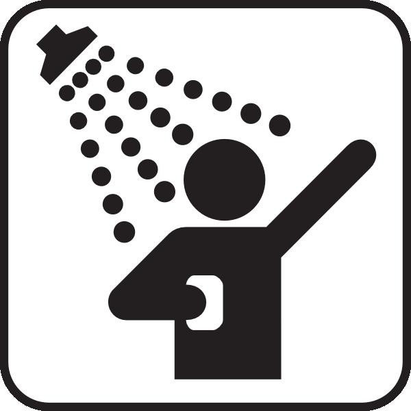 Taking A Shower Cartoon.