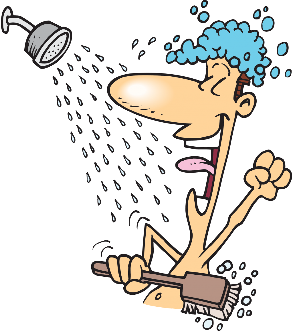 Showering clipart took, Showering took Transparent FREE for.