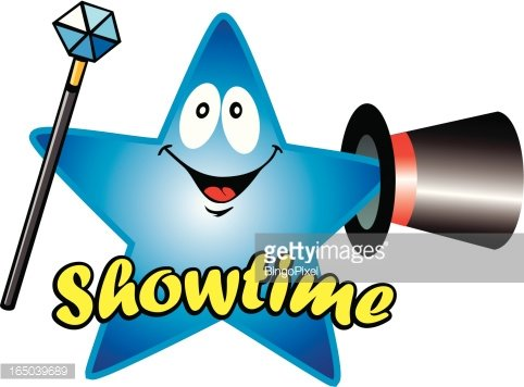 Comic Showtime Star (Vector) Clipart Image.