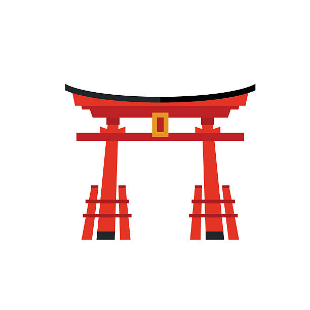 Japanese Gate Clipart.